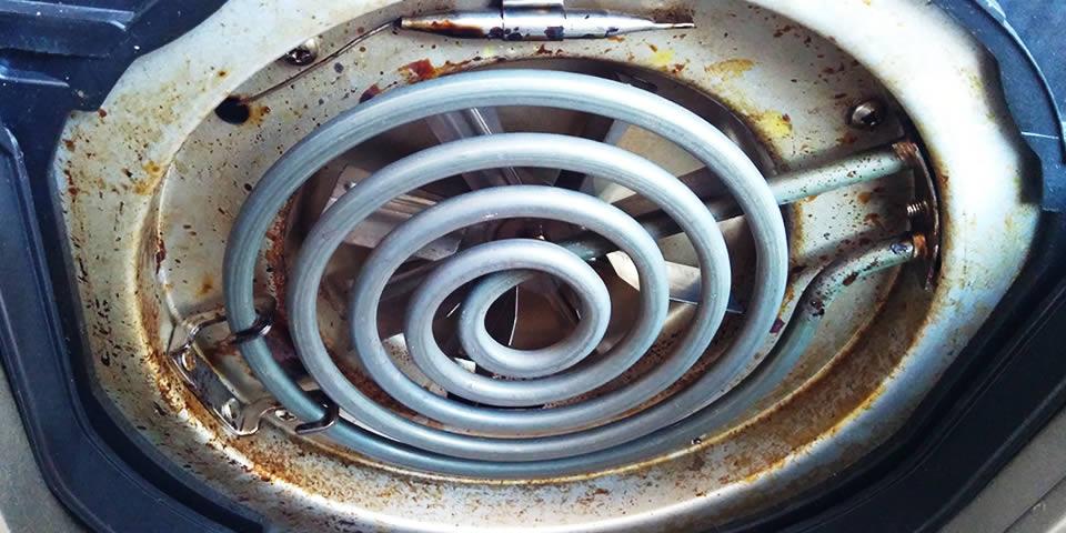 fritadeira eletrica suja